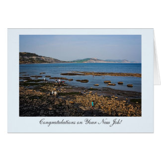 Fossil Coast Beach, Congrats on Your New Job! Card