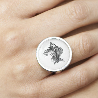 Fossil Fish Photo Ring