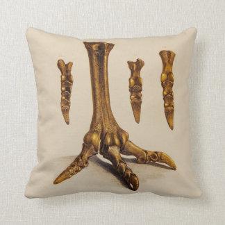 Fossil Foot Illustration Throw Pillow