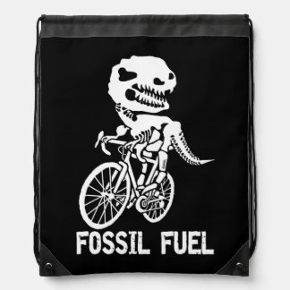 Fossil fuel drawstring bag