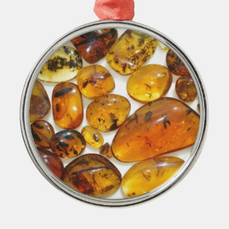 Fossil inclusions in Oligocene Dominican amber Metal Ornament