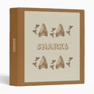Fossil Shark Teeth 3 Ring Binders