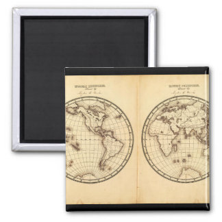 Fossil World Map 10_Maps of Antiquity Square Magnet
