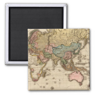 Fossil World Map 10 Square Magnet
