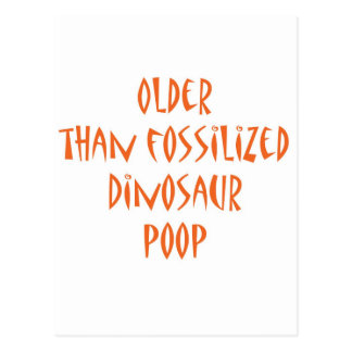 Fossilized Dinosaur Poop Postcard