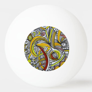 Fossils-Abstract Art Geometric Ping Pong Ball