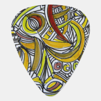 Fossils-Modern Geometric Doodle Pattern Guitar Pick