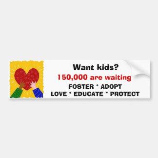 Foster Adopt Love Sticker Bumper Sticker