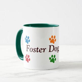 Foster Dog Mom-Colourful Paw Prints Mug