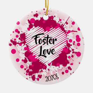 Foster Love - Foster Care Adoption Gifts Ceramic Ornament