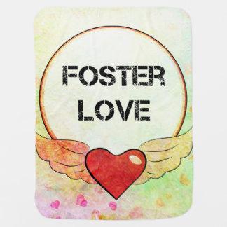 Foster Love Watercolor Heart Baby Blanket