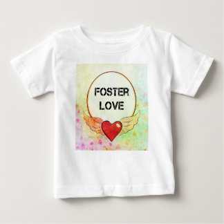 Foster Love Watercolor Heart Baby T-Shirt