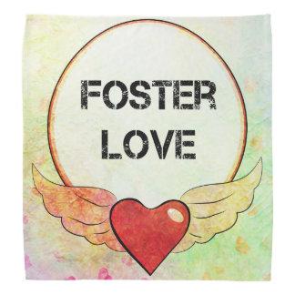 Foster Love Watercolor Heart Bandana