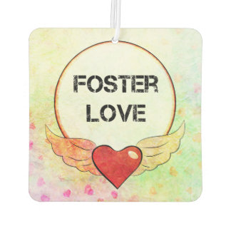 Foster Love Watercolor Heart Car Air Freshener