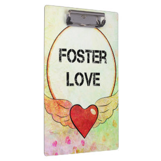 Foster Love Watercolor Heart Clipboard