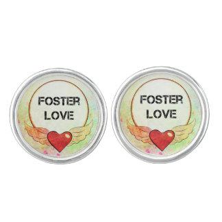 Foster Love Watercolor Heart Cuff Links