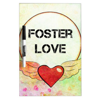 Foster Love Watercolor Heart Dry Erase Board