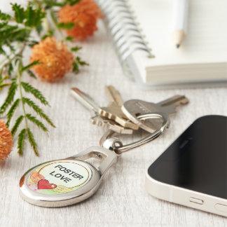 Foster Love Watercolor Heart Keychain