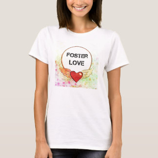 Foster Love Watercolor Heart T-Shirt