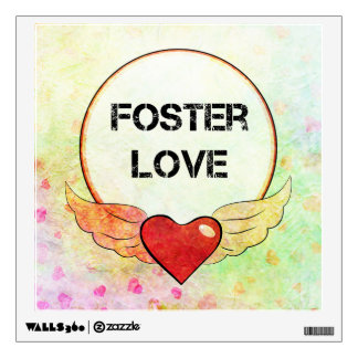 Foster Love Watercolor Heart Wall Decal