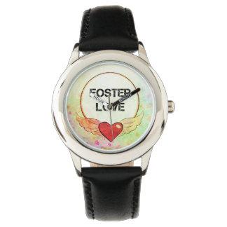 Foster Love Watercolor Heart Watch