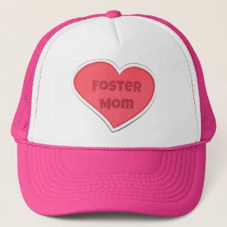 Foster Mom Pink Heart Design Trucker Hat