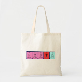Foster periodic table name tote bag
