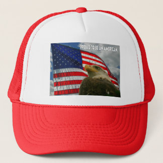 FotoSketcher - Proud As An Eagle Trucker Hat