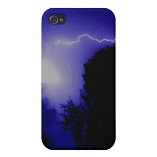Foudre bleue étui iPhone 4