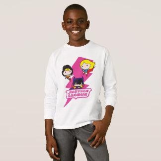 Foudre de rose de ligue de justice de Chibi T-shirt