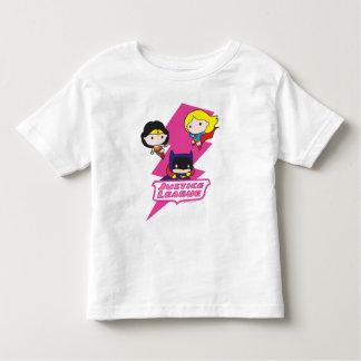 Foudre de rose de ligue de justice de Chibi T-shirt Pour Les Tous Petits
