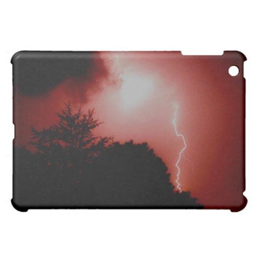 Foudre rouge coques iPad mini