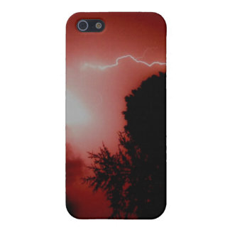 Foudre rouge coques iPhone 5