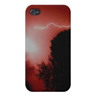 Foudre rouge étui iPhone 4/4S