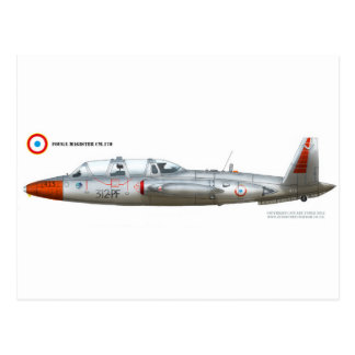 Fouga Magister CM.170 Postcard
