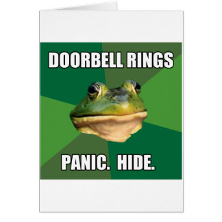 Foul Bachelor Frog Doorbell Rings Card