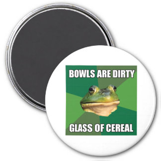 Foul Bachelor Frog Glass of Cereal Magnet