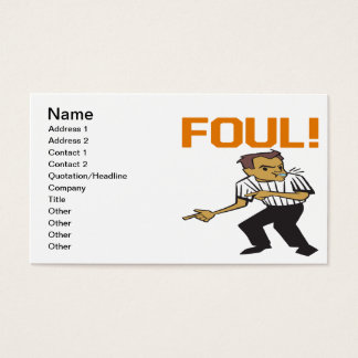 Foul Business Card