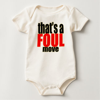 foul cheating activity move action moving great bu baby bodysuit