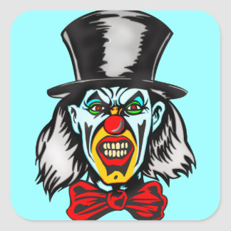 Foul Evil Clown Square Sticker
