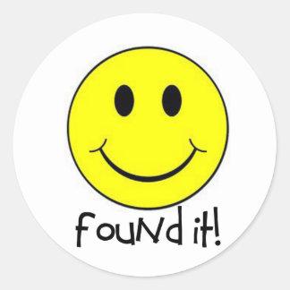 Found It! Classic Round Sticker