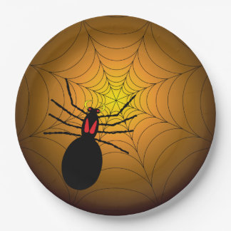 Found Me A Spider Halloween Party Paper Plates 9 Inch Paper Plate