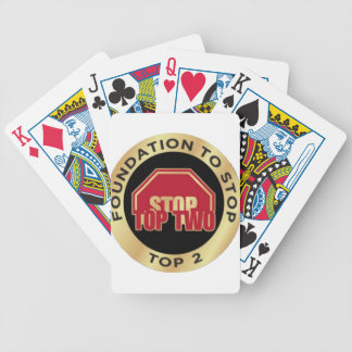 Foundation To Stop Top 2 Bicycle Playing Cards