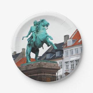 Founder of Copenhagen Absalon - Højbro Plads 7 Inch Paper Plate