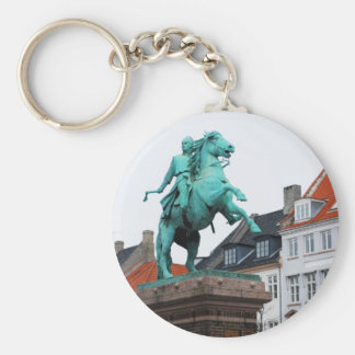 Founder of Copenhagen Absalon - Højbro Plads Basic Round Button Keychain