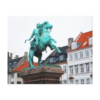 Founder of Copenhagen Absalon - Højbro Plads Canvas Print