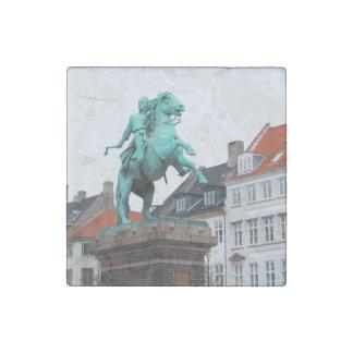 Founder of Copenhagen Absalon - Højbro Plads Stone Magnets