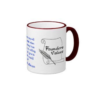 Founders Values Thomas Jefferson Ringer Mug