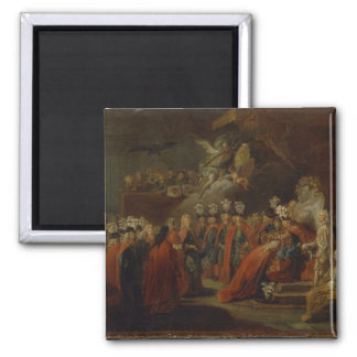 Founding of the Order of the Black Eagle Square Magnet