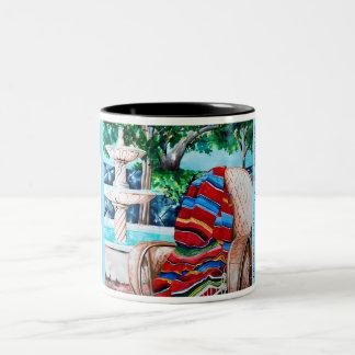 Fountain and Serape Two-Tone Coffee Mug